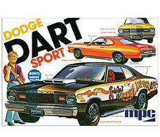 MPC 1975 Dodge Dart Sport Plastic Model Car Kit 1/25 Scale #pc798