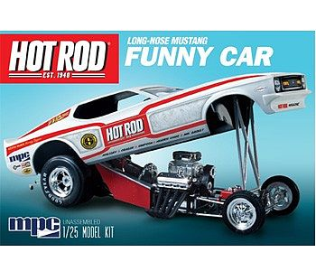 MPC by Ertl Mustang Funny Car -- Plastic Model Drag Car Kit -- 1/25 Scale -- #pc801