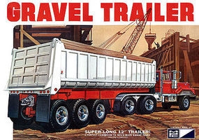 MPC 3-Axle Gravel Trailer 1/25 Scale Plastic Model Kit #pc823