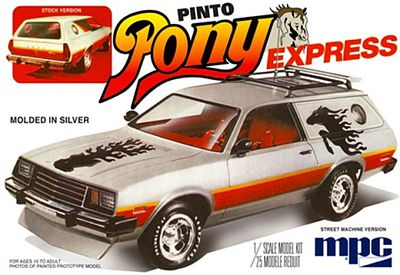 MPC by Ertl 1979 Ford Pinto Wagon Pony Express -- Plastic Model Car Truck Vehicle -- 1/25 Scale -- #pc845