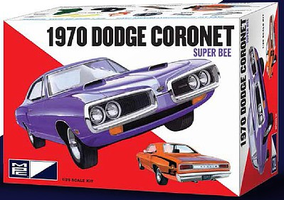 MPC by Ertl 1970 Dodge Coronet Super Bee -- Plastic Model Car Kit -- 1/25 Scale -- #pc869