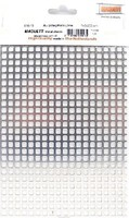 Maquett 5.7mm Square Mesh Aluminum Grating Metal Sheet 7.9x5.5