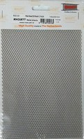 Maquett 1.7mm x 3.5mm Diamond Mesh Stainless Steel Grating Metal Sheet 7.9x5.5