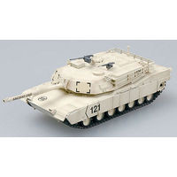 M1A1 Abrams Tank Kuwait 1991 (Built-Up Plastic) Pre-Built Plastic Model Tank 1/72 #35030