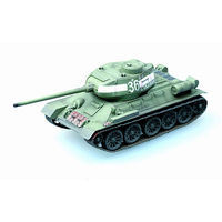 MRC T34/85 Tank Russian Army Green Pre-Built Plastic Model Tank 1/72 Scale #36270