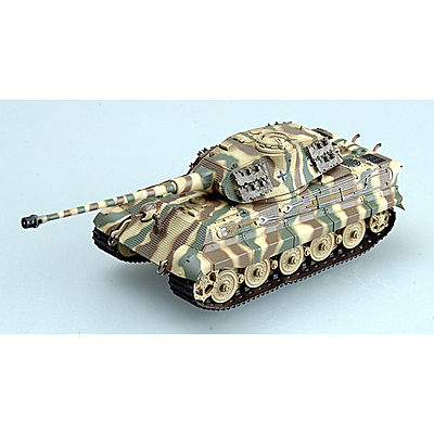 MRC King Tiger II Porsche Schwere PzAbt #323 Pre-Built Plastic Model Tank 1/72 Scale #36298