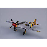 MRC P51D IV 319th FS, 325th FG Italy WWII Pre-Built Plastic Model Airplane 1/72 Scale #36303