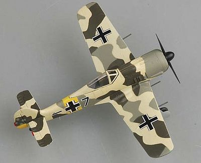 MRC Fw190A6 5/JG54 Autumn 1943 (Built-up Plastic) Pre-Built Plastic Model Airplane 1/72 #36400