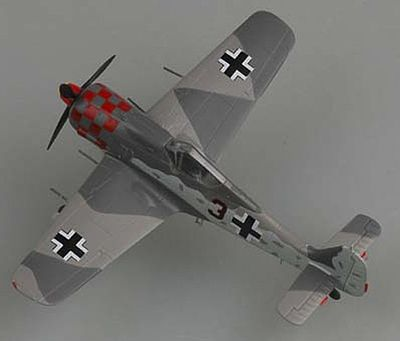 MRC Fw190A6 2/JG1 1943 (Built-up Plastic) Pre-Built Plastic Model Airplane 1/72 Scale #36403