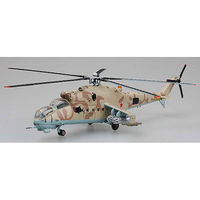 MRC Mi24 Hind Heli Russian Air Force Pre-Built Plastic Model Helicopter 1/72 Scale #37035