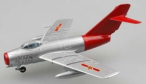 MRC MiG15 Chinese Air Force Red Fox Pre-Built Plastic Model Airplane 1/72 Scale #37131