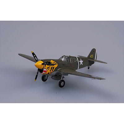 MRC P-40E Warhawk 11th FS 343rd FG 1942 Pre-Built Plastic Model Airplane 1/72 Scale #37272