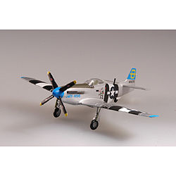 MRC P51D IV 3rd FS/3rd FG 5 AF WWII Pre-Built Plastic Model Airplane 1/72 Scale #37291