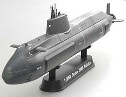 MRC HMS Astute Submarine (Built-Up Plastic) Pre-Built Plastic Model Submarine 1/350 #37502