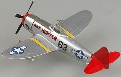 MRC P47D Tuskegee WWII (Built-Up Plastic) Pre-Built Plastic Model Airplane 1/72 Scale #39204