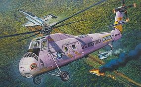 MRC HH34J USAF Combat Rescue Helicopter Pre-Built Plastic Model Helicopter 1/48 Scale #64104
