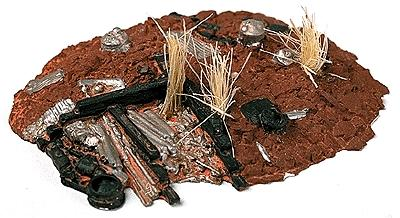 Railstuff Material Piles Junk w/Weeds Model Railroad Building Accessory HO Scale #110