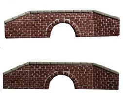Railstuff Clvrt brick & stne red 2/ - N-Scale (2)