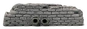 Railstuff Retaining Walls Cut Stone w/Drain Pipes Gray Model Railroad Scenery HO Scale #461