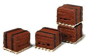 Railstuff Banded Bricks on Pallets Red (4) Model Railroad Building Accessory HO Scale #520