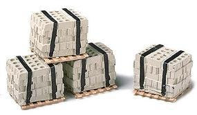 Railstuff Banded Concrete Blocks on Pallets Model Railroad Building Accessory HO Scale #540