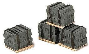 Railstuff Banded Cinder Blocks on Pallets Model Railroad Building Accessory HO Scale #550