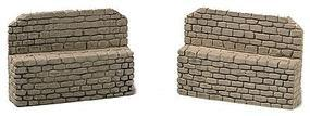 Railstuff Stone Bridge Abutment Set Gray Model Train Bridge Wall HO Scale #921