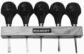 Mascot 4-1/2'' Palm Grip Whitiling Woodworking Tool Set (5pcs)