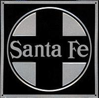 Microscale Embossed Die-Cut Metal Sign - Santa Fe Model Railroad Print Sign #10003