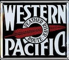 Microscale Embossed Die-Cut Metal Sign - Western Pacific Model Railroad Print Sign #10008