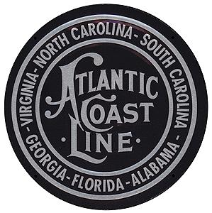 Microscale Embossed Die-Cut Metal Sign - Atlantic Coast Line Model Railroad Print Sign #10012