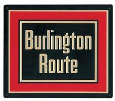 Microscale Embossed Die-Cut Metal Sign - Chicago, Burlington & Quincy Model Railroad Print Sign #10023