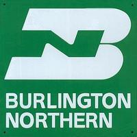 Microscale Embossed Die-Cut Metal Sign - Burlington Northern Model Railroad Print Sign #10027