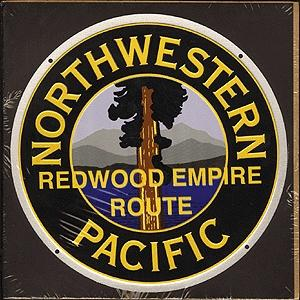 Microscale Inc Embossed Die-Cut Metal Sign - Northwestern Pacific -- Model Railroad Print Sign -- #10033