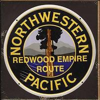 Microscale Embossed Die-Cut Metal Sign - Northwestern Pacific Model Railroad Print Sign #10033