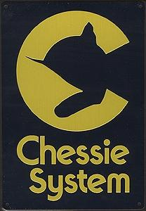 Microscale Embossed Die-Cut Metal Sign - Chessie System Model Railroad Print Sign #10036
