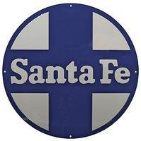 Microscale Embossed Die-Cut Metal Sign - Santa Fe Circle & Cross Model Railroad Print Sign #10038