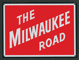 Microscale Metal Sign Milwaukee Road Model Railroad Print Sign #10045