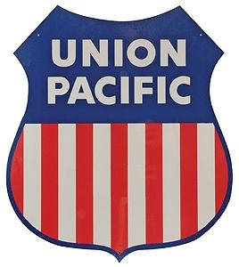 Microscale Heavy Gauge Aluminum Sign - Union Pacific Shield Logo Model Railroad Print Sign #10202