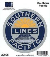 Microscale 4 Die-Cut Vinyl Stickers - Southern Pacific Model Railroad Print Sign #20005