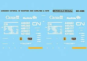 Microscale CN Manitoba 40 Box Car - HO-Scale