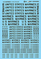 Microscale U.S. Marines Lettering 3, 6, 9, 12 1/48 Scale Model Railroad Decal #480032