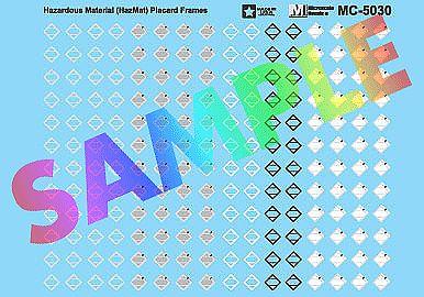 Hazmat Placards HO Scale Decal Set