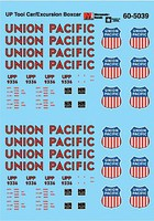 Microscale Railroad Decal Set Union Pacific Tool Car/Excursion Boxcar UPP #9336 N-Scale