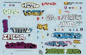 Microscale Graffiti Decal Set Urban Graffiti N Scale Model Railroad Decal #601320