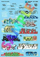 Microscale Modern Urban Graffiti 2010s N Scale Model Railroad Decal #601364