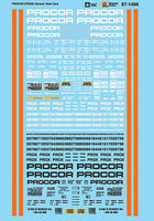 Microscale Various Procor PROX Tank Cars N Scale Model Railroad Decal #601466