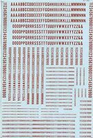 Microscale Alpha Con Gothic Red N Scale Model Railrod Decal #70025
