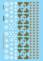 Microscale Christmas Train Graphics Holly & Snowflakes HO Scale Model Railroad Decal #871119