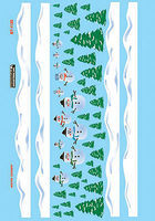Microscale Christmas Train Graphics Snowman Scenes HO Scale Model Railroad Decal #871120